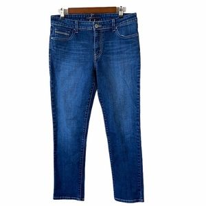 Levi's Mid Rise Skinny Whiskered Faded Jeans
